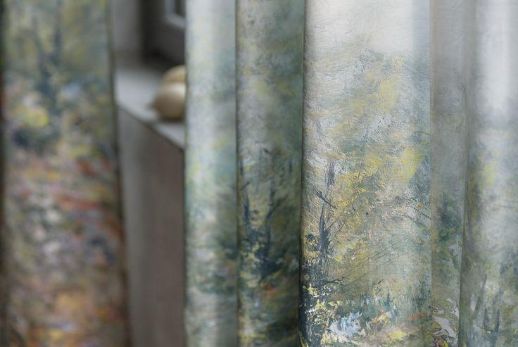 Painting: Estampat sobre cotó de doble ample, amb un degradat de color vertical. #aquarel·la #ontario #fabrics