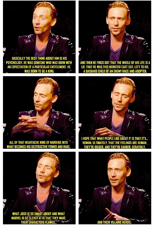 Tom Hiddleston talks about Loki character http://pinterest.com/yankeelisa/marvel-s-the-avengers-4/