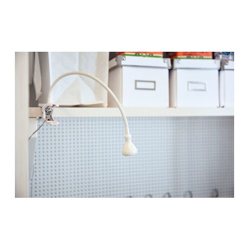 JANSJÖ Wall/clamp spotlight - white - IKEA $14.99