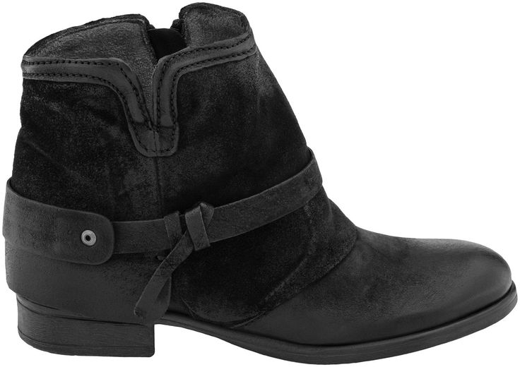 Miz Mooz Seymour Ankle Boot, women, shoes with vintage styling, hand finished leather, and unexpected detailing, PlanetShoes.com (Black)