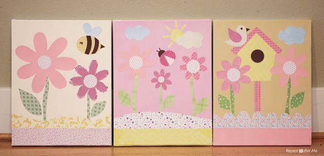 Repeat Crafter Me: Scrapbook Paper Canvas Wall Art