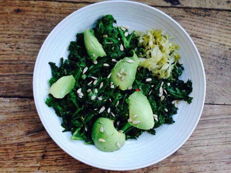 Garlicky Kale + Avo: My Fav 5 Min Meal. - Jennifer Moore