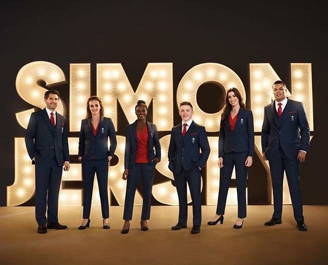 Simon Jersey photo shoot with Team GB for Rio Olympics 2016