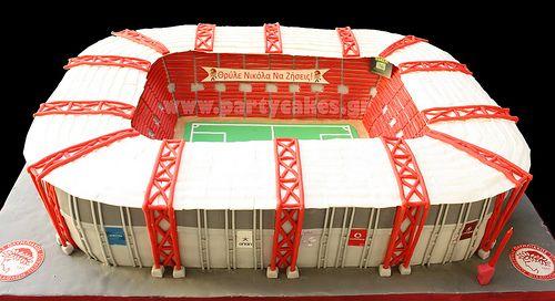 Στάδιο+Καραϊσκάκη+σε+κείκ!++Karaiskaki+Football+Stadium+in+cake+(Olympiakos+FC)+soccer