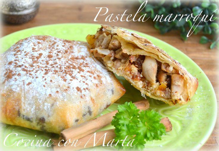 #Receta casera de pastela marroquí. Pastelas morunas o arabes de pollo con frutos secos y pasta brick o filo. Fácil, rápido.