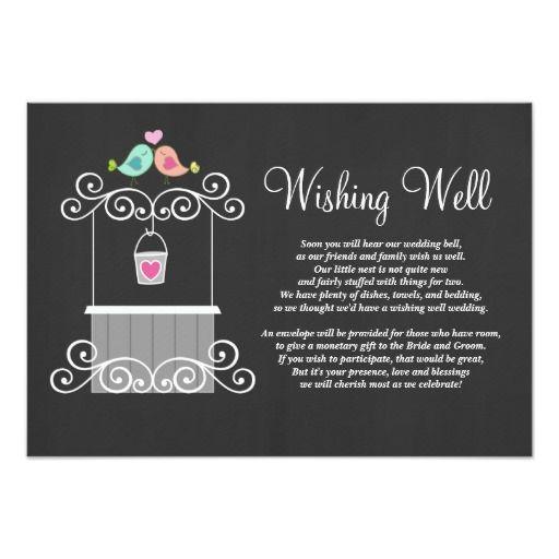 Chalkboard Wishing Well Lovebirds Card