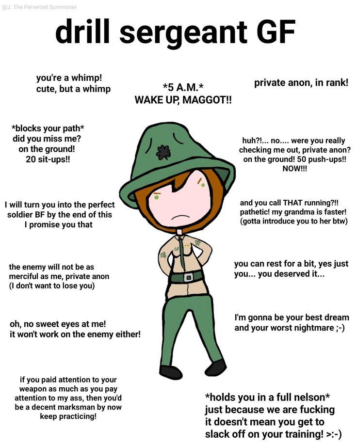 Drill Sergeant GF | Ideal GF | Gf memes, Type of ...