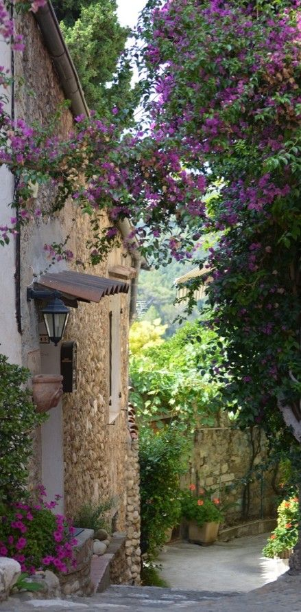 Alley in Provence, France. Beautiful places like these remind me of movies made long time ago