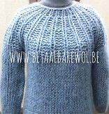 Patroon trui met ronde kraag