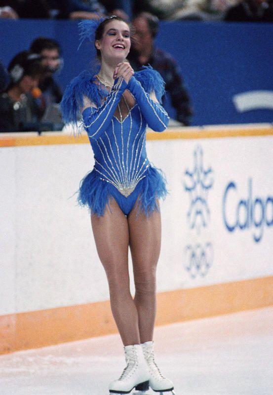 Katarina Witt at the Sarajevo 1984 Winter Olympics