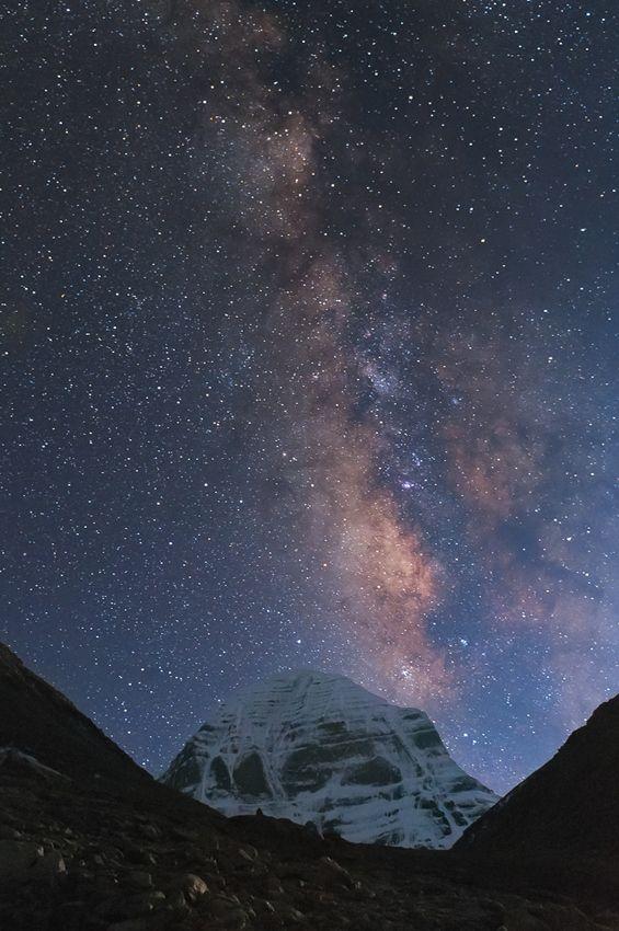 Milky Way Galaxy from Tibet.