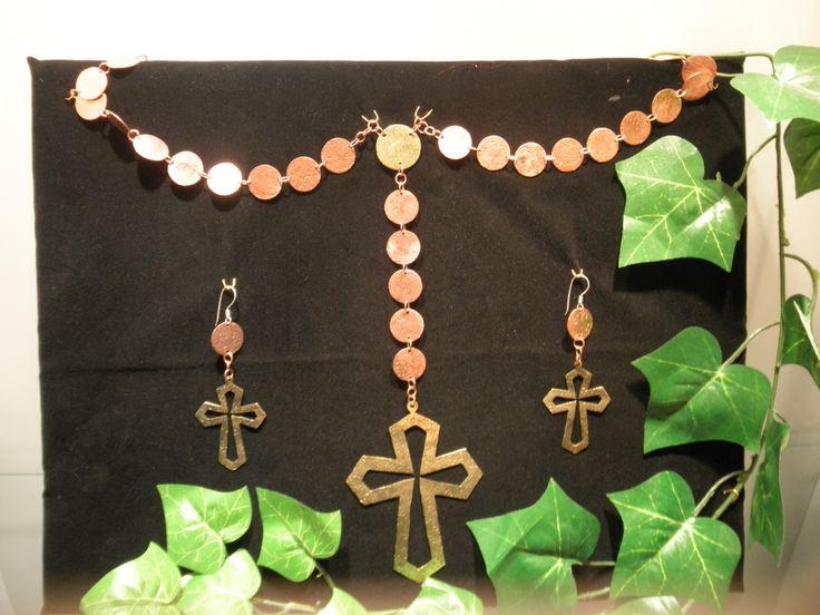 Conjunto rosario de cobre y bronce $180.000 (conj18)(mm)