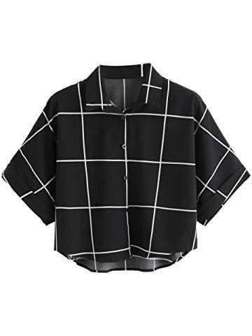 70e0d202a873f MakeMeChic Women s Summer Half Sleeve Dip Hem Plain Pocket T-Shirt Blouse  Crop Top