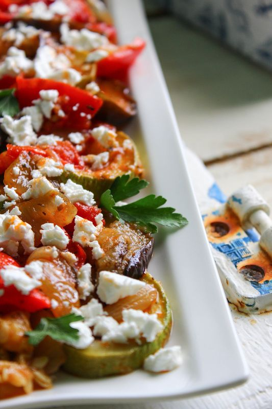 Pečená zelenina s balzamikem a sýrem feta (primal)