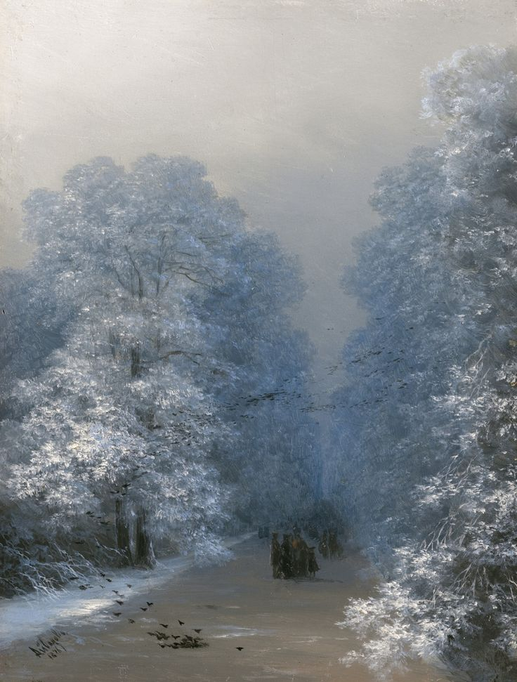 """ ""Winter Landscape"", 1876, Ivan Aivazovsky (1817 - 1900) """