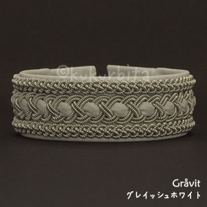 Sami pewter and leather bracelet