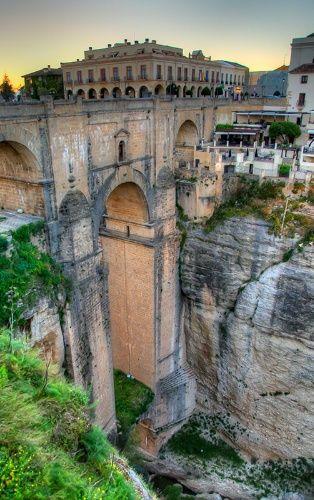 Roman aqueduct in Ronda, Spain.