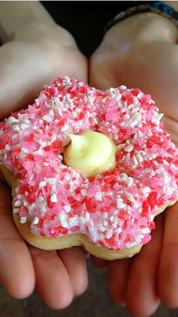 Tim Horton's creates the Alberta Wild Rose donut. 100% of the proceeds goes to Alberta Flood relief.