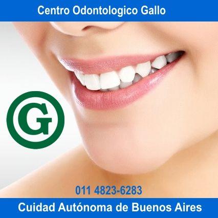 Centro Odontologico Gallo Todas las Especialidades Odontologicas. Caba. Tel. 011 4823-6283 www.odontologiagallo.com.ar