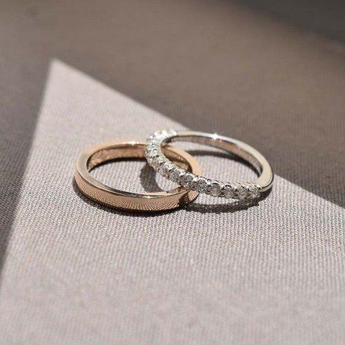 💎wedding season💎  Why have one wedding ring when you can have two? 😘 These belong to a happy, recently-married customer 💍 #ISLEjewellery #wedding #bridal #weddingrings #diamondring #goldband #platinumandgold #moreismore #customorder #bespokejewellery #finejewelry #irishdesign #ireland #tokyo #familyjewellers #beautyinsimplicity #sunlight #shadow #contrast #sparkle