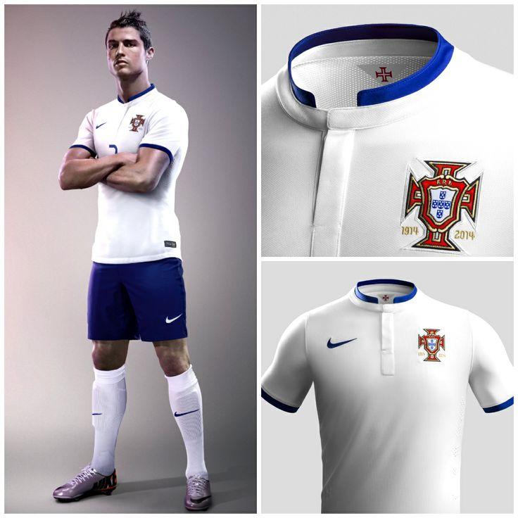 los angeles 53cd9 4ec2d 2014 world cup portugal 7 ronaldo away white soccer long ...