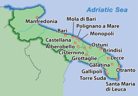 map of puglia - Google Search   Bellissima ITALIA in 2018 ...