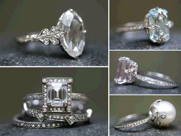 vintage rings: Style, Wedding Ideas, Weddings, Vintage Rings, Wedding Bands, Wedding Rings, Art Deco, Engagement Rings