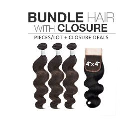 """Sensationnel Bare & Natural Unprocessed Indian Virgin Remy Human Hair Weave Wet & Curly (14"""",16"""",18"""" + Free Invisible Part Lace Closure) - SamsBeauty"""