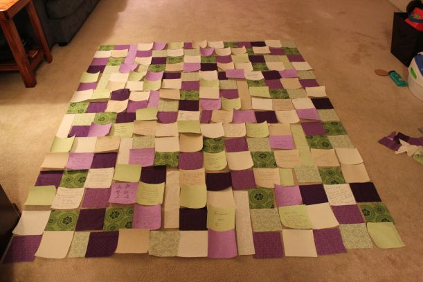 Great tips for wedding quilt guest book. Read this one over and see if this would work. See others on wedding quilt guest book. Would also need color choices.