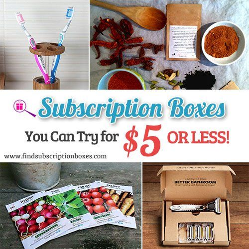 Check out these affordable subscription boxes you can try for under $5. Beauty boxes, snack subscription boxes, monthly boxes for kids & more!