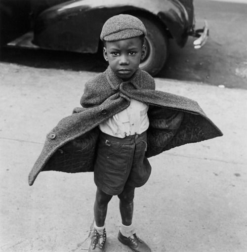 Butterfly boy, NY 1949 by Jerome Liebling