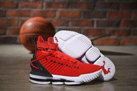 78827d8ee361 Nike LeBron 16 HFR Harlem s University Red Black White Men s Basketball  Shoes