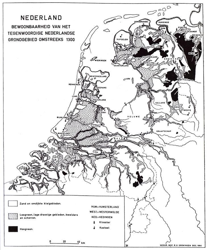 De historische geografie van de lage landen.