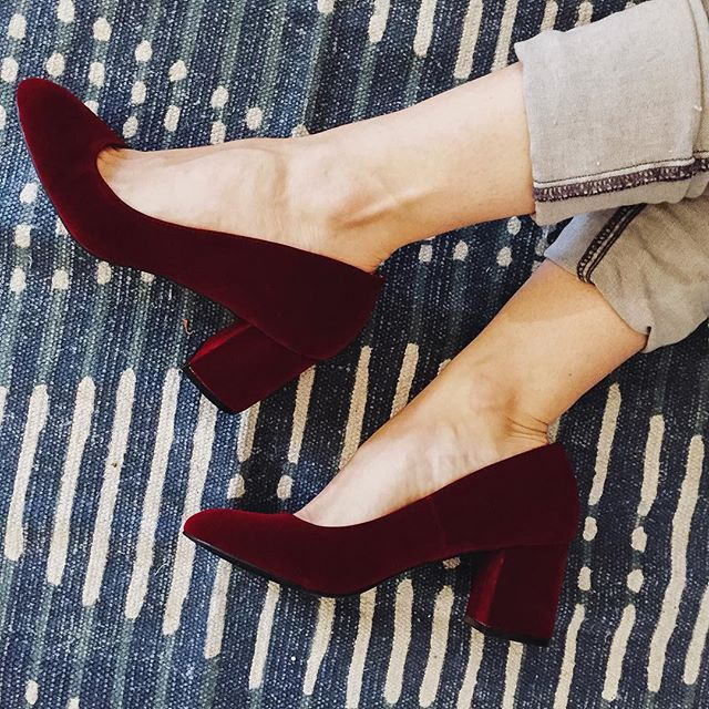 It's all about VELVET for Fall 2016! Shoes available at mooreaseal.com