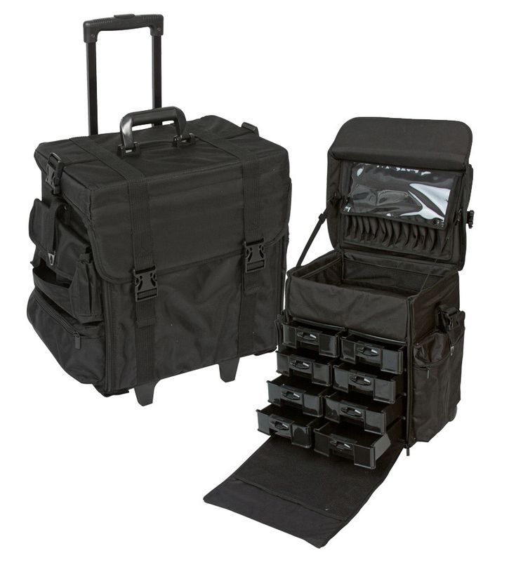 Professional Soft Sided Rolling Makeup Case w/ Drawers, only $129.95 plus free shipping! #makeup