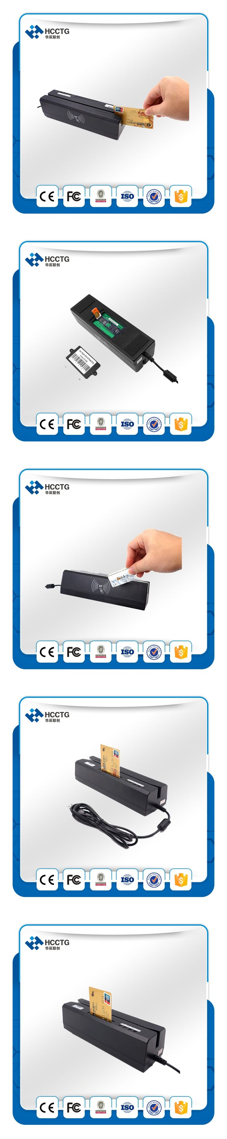 New Promotion  Magnetic Stripe & IC Card & Psam Card & RFID Card Combo Smart Card Reader&Writer HCC80