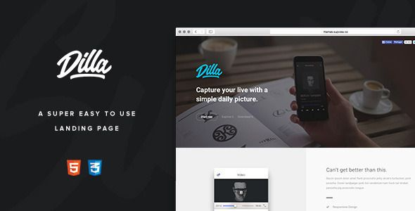 Dilla - Easy To Use Landing Page - Creative Landing Pages