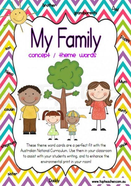 Use these family concept word cards when learning about families. These are perfect for using in conjunction with the Foundation stage of the Australian National Curriculum. There are 32 differen