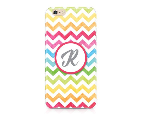 Rainbow Chevron Phone Case Custom Phone Case by NoondaybyTracey