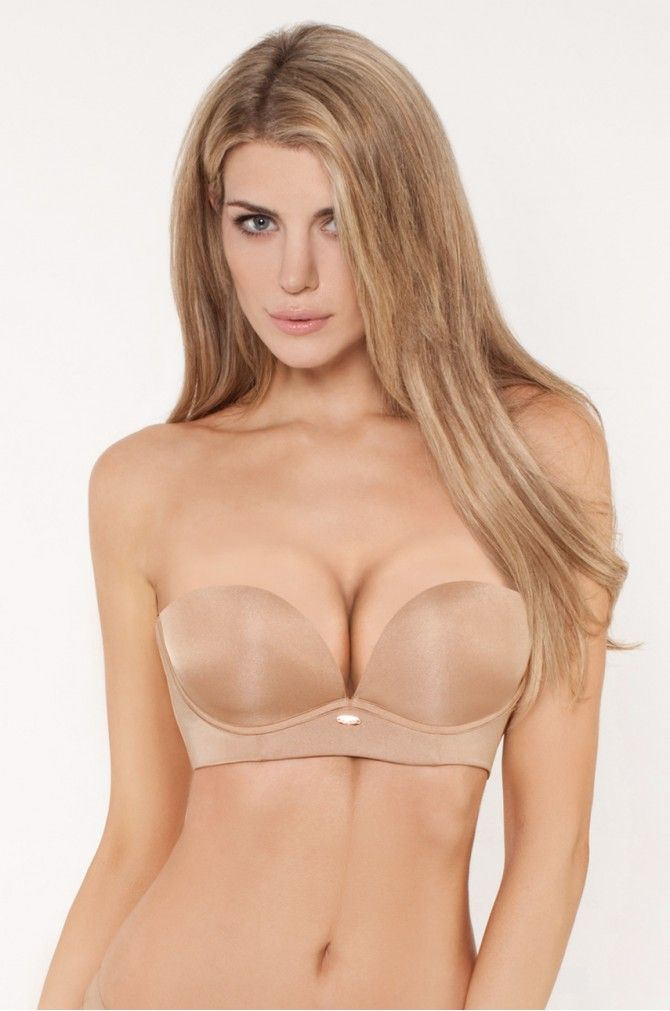 Bielizna Biustonosze  - Gossard - Biustonosz Super Egoboost Strapless Nude