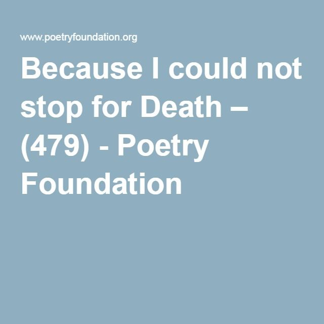 optimism of death in the poem because i could not stop for death