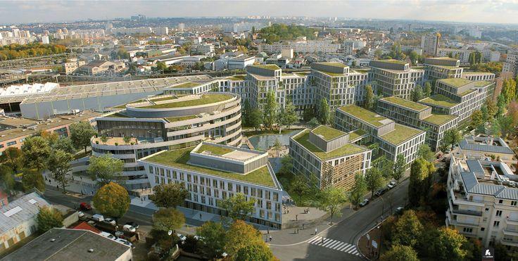 ECO CAMPUS - Châtillon (92) - MO: SAS MERCEDES - Architectes: BRIDOT & WILLERVAL - Photographe: Kreaction - NF HQE Bâtiments Tertiaires - Niveau HQE Très Bon