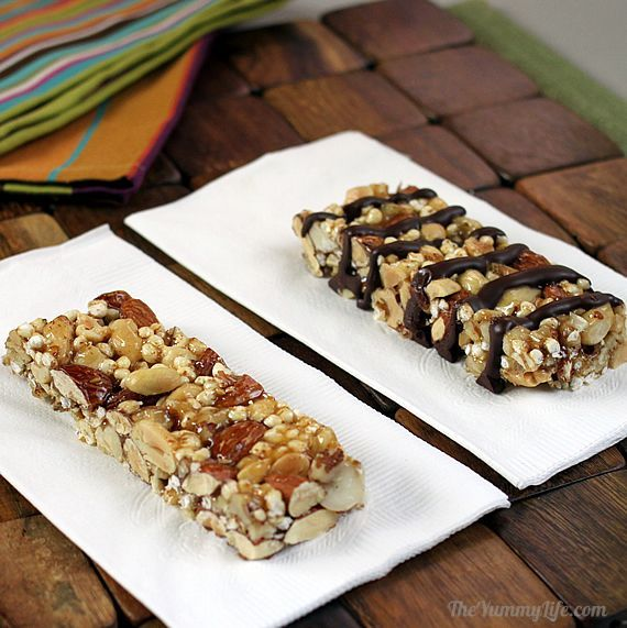 Homemade KIND bars! I learned to seriously appreciate these scrumptious snack bars during the third trimester of a glucose-intolerant pregnancy...they're fabulous for snacks, pregnant or no. Must try making them sometime!
