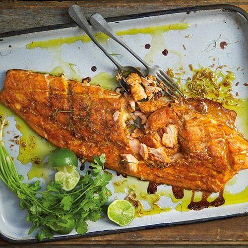 ... Salmon In Foil With Tarragon, Chives & Vermouth Recipe — Dishmaps