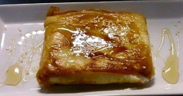 Φέτα σαγανάκι με μέλι !!!  #Συνταγή