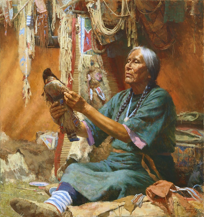 New Doll for My Granddaughter by Howard Terpning: Doll, American Indian, American Art, Native Indian, Westerns Art, Google Search, Howard Terpn, Photo, Native American