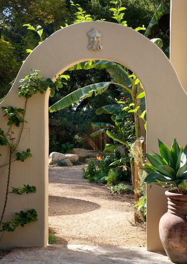 24 further Mediterranean Landscape Design Ideas likewise Grow furthermore Let Clematis Ramble furthermore Small Courtyard Garden Design Ideas Texture. on drought tolerant front yard landscaping ideas stone wall