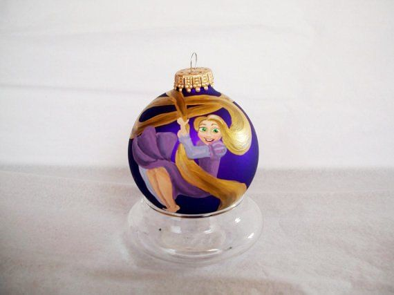 Hand Painted Christmas Ornament: Rapunzel from TANGLED I HAVE TO MAKE THESE  OH MY GOSH