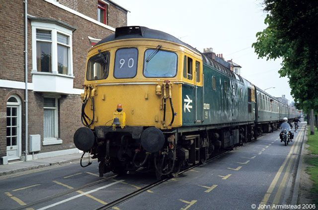 One of the more unusual workings on the British Rail network was the Channel Islands boat train which ran through the streets of Weymouth.