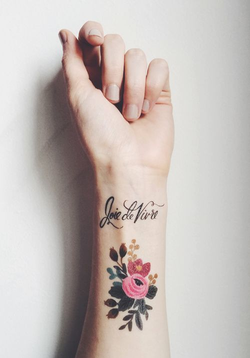 Rifle Paper Co. & Tattly Tattoos, Anna Bond *link to order http://tattly.com/products/floral-set